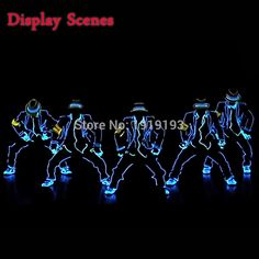 56.98$  Know more - http://ai9hs.worlditems.win/all/product.php?id=32733345823 - New Fashion LED/EL Clothes Luminous Costumes EL Suits Light up Gloves Shoes Glowing Clothing Men Clothes Dance holiday lighting