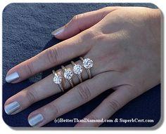 c0939f4f80d85 13 Best Carat Comparison images   Rings, Jewelry, Estate engagement ring
