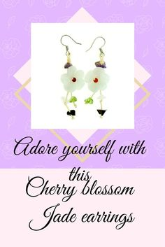 Style beyond measure! A pair of beautiful Cherry blossom earring is beyond quantifying. The cherry blossom flower is set in between vibrant color gemstones to bring out this gorgeous look for you.