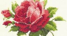 Rosas para bordar em ponto cruz