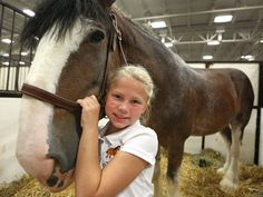 Bryee Alpers, 8, poses with her 7-year-old Clydesdale gelding named Elliott, at the Indiana State Fair, Monday, August 11, 2014.  She is the...