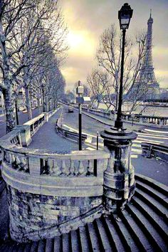 Paris, France / Eiffel tower / Winter