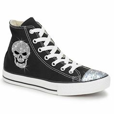 Crystal Touch: Skull and Star Crystal Converse
