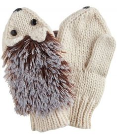 Fall in love with these fluffy and funky hedgehog mittens. With soft chenille fur and a face full of character, they're sure to inject a little fun into those frosty mornings. One Size