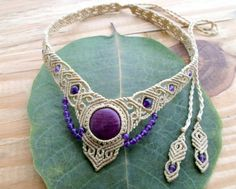 Hey, I found this really awesome Etsy listing at https://www.etsy.com/listing/218826542/ruby-macrame-necklacemacrame-tiaramicro