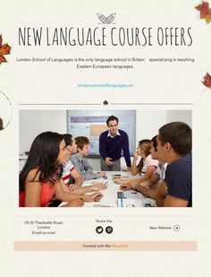 New Language Course Offers