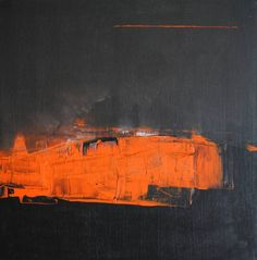 Original Painting measuring 19.7 x 19.7 x 1 in by ian palmer. Styles: Abstract. Subject: Abstract. Keywords: acrylic, black, 1505, Untitled 1505, orange.