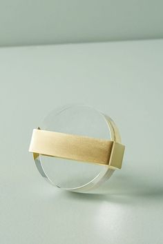 Lucite Knob by Anthropologie in Clear, Knobs Gold Dresser, Modern Dresser, Dresser Knobs, Door Knobs, Dresser Drawers, Gold Office, Home Design Diy, Anthropologie Home, Knobs And Pulls