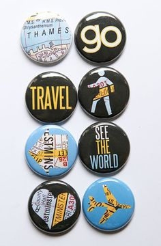See The World Flair 1- A Flair for Buttons $6.00