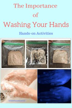 Washing our hands is essential for preventing illness. Here are simple, fun, hands-on activities to convince your students to wash their hands. Cool Science Experiments, Science Lessons, Science Projects, Life Science, Science Resources, Science Ideas, Homeschool Science Curriculum, Science Education, Homeschooling
