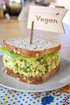 veganinspo: Vegan Egg Salad Sandwich Not gonna lie… it's delicious! :)