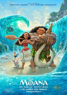 """The brand new trailer for Walt Disney Animation Studios' MOANA is finally here! The film, starring Auli'i Cravalho (voice of """"Moana"""") and Dwayne Johnson (voice of """"Maui""""), opens in theatres in this Thanksgiving! Moana Disney, Film Disney, Disney Pixar, Disney Art, Disney Movies Free, Disney Blu Ray, Disney Wiki, Punk Disney, Disney Cruise"""