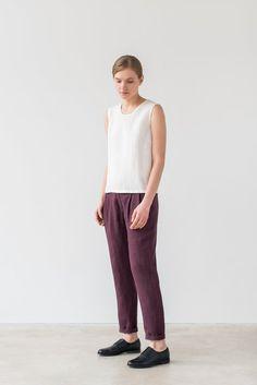 Hanna pants in burgundy