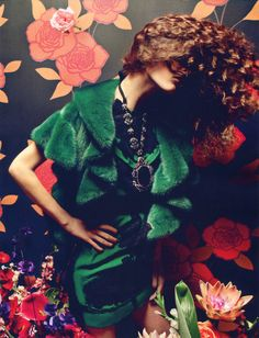 Femme Fatale | Vogue China September 2012Marie Piovesan by Inez and VinoodhLanvin | Fall 2012 RTW