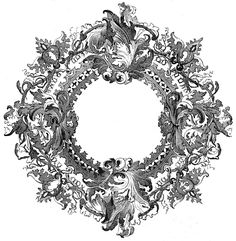 Download :: ornate round frame