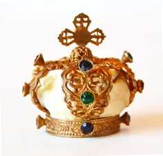 Antique French Jeweled Crown