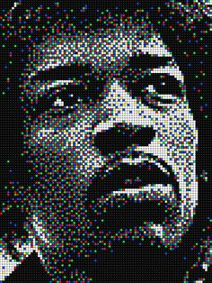 Jimi Hendrix #quercetti #pixelart Fuse Bead Patterns, Brick Patterns, Legend Music, Pixel Art Templates, Fusion Beads, Art Pictures, Photos, Lego Ideas, Artificial Intelligence