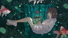 Anime Backgrounds Wallpapers, Anime Scenery Wallpaper, Cute Wallpapers, Pretty Art, Cute Art, Aesthetic Art, Aesthetic Anime, Sad Art, Art Inspo