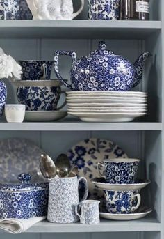 Blue & white dishes