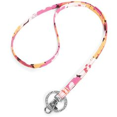 Vera Bradley Lanyard in Pixie Blooms ($8.40) ❤ liked on Polyvore featuring accessories, pixie blooms, personal accessories, detachable key ring and vera bradley