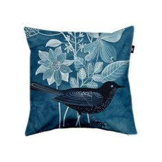 """Cyanobird"" pillow cover by Geninne"