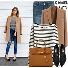 Wear a Camel Coat! by martinabb on Polyvore featuring moda, Joules, White House Black Market, Steve Madden, Hermès and camelcoat