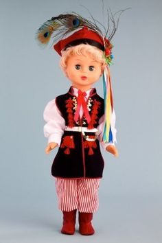 DreamWorld Collections Krakovian Boy (Krakowiak) - 18 Inch Collectible Regional Doll : Regional Dolls