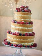 Summer fruit wedding cake / Wedding cakes - Wynyard Hall, Durham. theCakeWorks   three double tiers of sponge decorated with gorgeous summer...