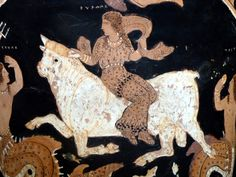 Calyx krater with Rape of Europa (detail) - Paestum Museum