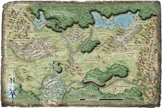 Dungeons and Dragons: World map Fantasy World Map, Imaginary Maps, Forgotten Realms, Dungeon Maps, Monster Hunter, Dungeons And Dragons, Vintage World Maps, Landscapes, Gaming