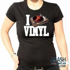 Camiseta I LOVE VINIL.