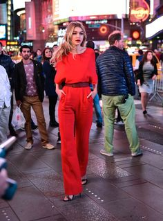 Filming a Maybelline commercial in New York City.   - ELLE.com