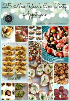 25 New Year's Eve Party Appetizers on ReluctantEntertainer.com