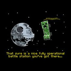 a8724b06a Creeper Death Star Children's Tshirt by Offworld Designs. Available in  Kids' sizes, on