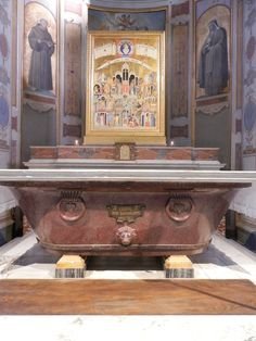 San Bartolomeo all'Isola, Rome.  The peoples altar which contains the relics of St. Bartholomew.