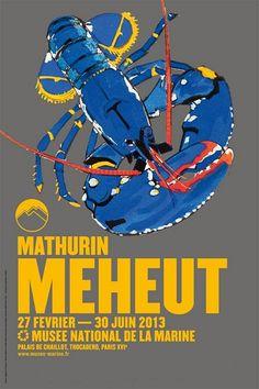 affiche : Mathurin Méheut, Exposition, Musée national de la Marine, Paris