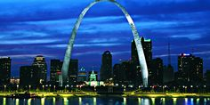 St. Louis. The Gateway Arch: See 30 miles in every direction and 200 years into the past. Flying in on July 4th!