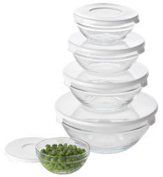 BELICE staklene zdjele s b.pokl 5kom/set u JYSK-u.