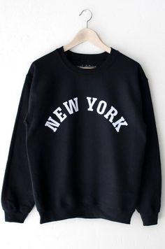 New York Sweatshirt - Black