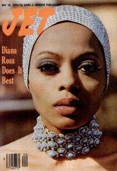 Diana Ross, Jet Magazine, May 18 1978 Jet Magazine, Black Magazine, Magazine Wall, Vintage Black Glamour, Vintage Beauty, Vintage Makeup, Vintage Ads, Vintage Images, Vintage Fashion