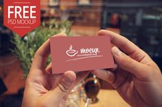 "Free Photorealistic PSD Mockup of the Business card. Our ""Mocups"" are really easy to use because of using smart layers."