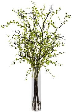 nearly natural Night Willow Artificial Floral Arrangement Tall Vase Decor, Glass Cylinder Vases, Tall Vases, Vases Decor, Spring Flower Arrangements, Artificial Floral Arrangements, Flower Vases, Vase With Branches, Tall Flowers