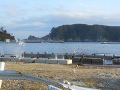 ≪Present Tree in 宮古≫ 被災地視察_20121007 ガードレールをへし曲げたのは、確かにこの海なのです。