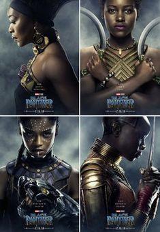 Women of Wakanda get their own Character Posters in Marvel's #BlackPanther #Shuri #Okoye #Ramonda