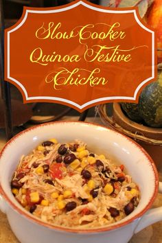 Slow Cooker Quinoa Festive Chicken is a simple, delicious, and healthy recipe that is perfect for the entire family.