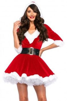 Newest Red Dress 2017 Christmas Costumes Sexy Santa Baby Crystal Velvet Holiday Dress With Belt One Size santa claus costume Sexy Christmas Outfit, Christmas Dress Women, Christmas Holiday, Christmas Clothes, Diy Christmas Outfits, Christmas Fancy Dress, Christmas Skirt, Christmas Fashion, Holiday Nails