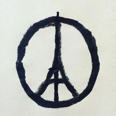 La Tour Eiffel Peace & Love de Jean Jullien devient le symbole de la paix