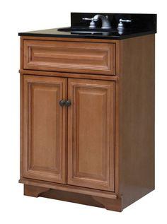 """Sunny Wood BW2421 Briarwood 24"""" Maple Wood Vanity Cabinet Only Briarwood Fixture Vanity Cabinet Wood"""