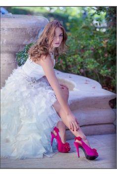 chaussures de marie escarpins froufrous blanc noir rouge fushia bleu violet argent accessoires - Chaussure Fushia Mariage