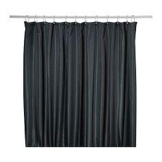 SALTGRUND Douchegordijn - zwart - IKEA